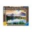 Пазл с деревянным покрытием Солнце в горах, 1200 деталей