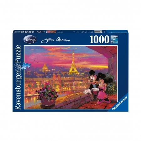 Пазл Микки и Минни в Париже, 1000 деталей