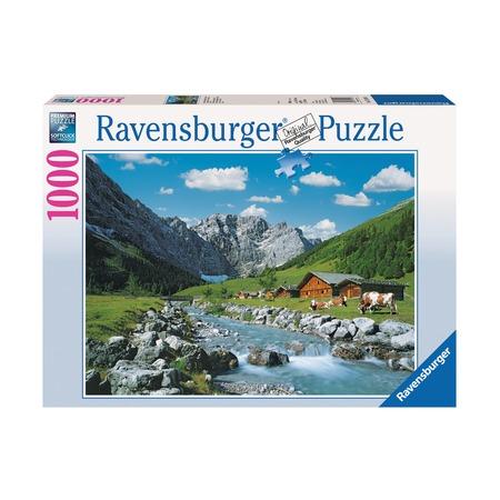 Пазл Австрийские горы, 1000 детей