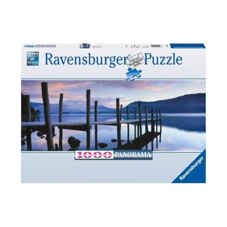 Пазл панорамный Идиллия на озере, 1000 деталей