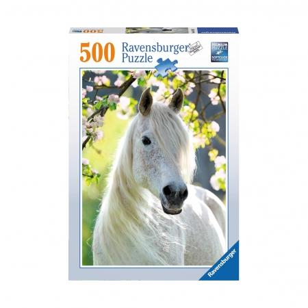 Пазл Грациозная белая лошадь, 500 деталей
