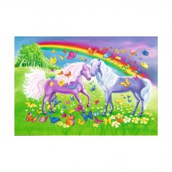 Пазл 2 в 1 Радужные лошади, 2х24 детали