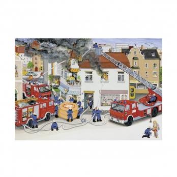Пазл 2 в 1 Пожарная бригада, 2х24 детали