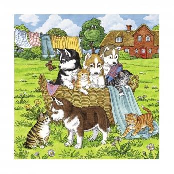 Пазл 3 в 1 Котята и щенки, 3х49 деталей