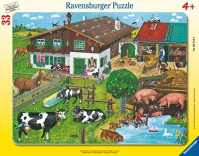 Пазл Животные на ферме, 34 детали