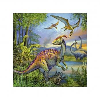 Пазл 3 в 1 Динозавры, 3х49 деталей