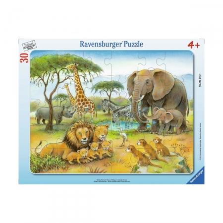 Пазл в рамке Африканский животный мир, 30 деталей
