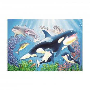 Пазл На глубине моря, 2x24 детали