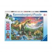 Пазл У динозавров, 100 деталей