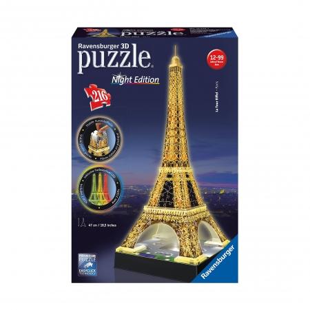 3D Пазл Ночная Эйфелева башня, 216 деталей