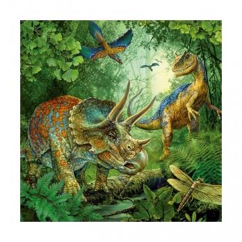 Пазл Динозавры, 3х49 деталей