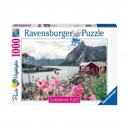 Пазл Рейне, Лофотенские острова, Норвегия, 1000 деталей