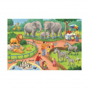 Пазл День в Зоопарке, 2х24 детали