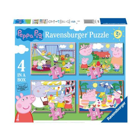 Пазл 4 в 1 Свинка Пеппа, 12, 16, 20 и 24 деталей